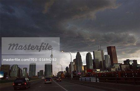 Nuages d'orage au-dessus de Toronto, Ontario, Canada