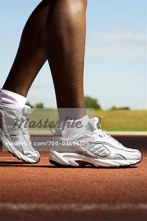 Close-up Track Runner Füße