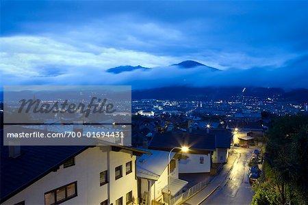 Innsbruck at Dusk, Austria