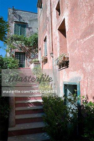 Extérieur de la maison, Anacapri, Capri, Italie
