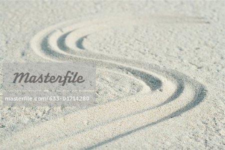 Modèle de la courbe tracée dans le sable