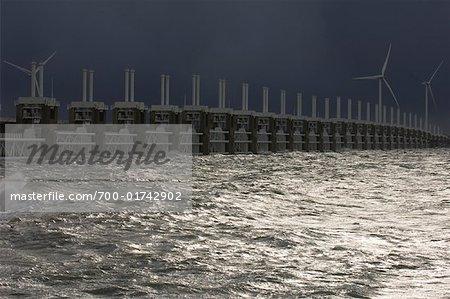 Les Turbines de vent et de mer, Vrouwenpolder, Pays-Bas