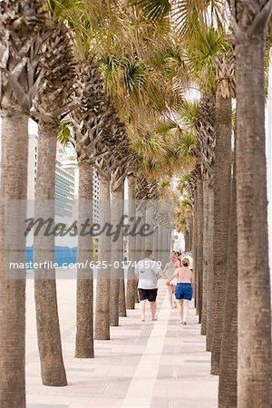 Tourists walking on a walkway, Daytona Beach, Florida, USA