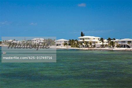 Tourist resort at the waterfront, Florida Keys, Florida, USA