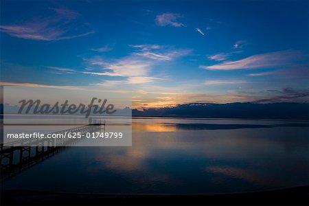 Pier in the sea, St. Augustine Beach, Florida, USA