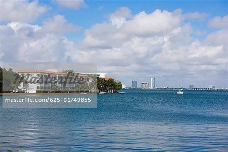Buildings at the waterfront, South Beach, Miami Beach, Florida USA
