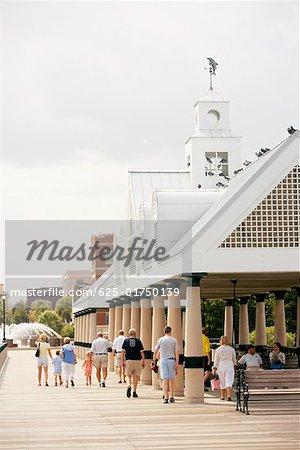Tourists in a park, Waterfront Park, Charleston, South Carolina, USA
