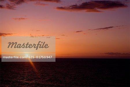 Sunset over the sea, Hawaii Islands, USA