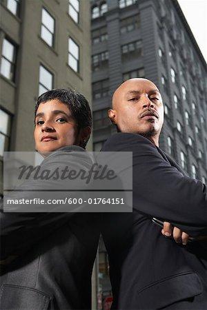 Portrait de Business Partners, New York City, New York, États-Unis