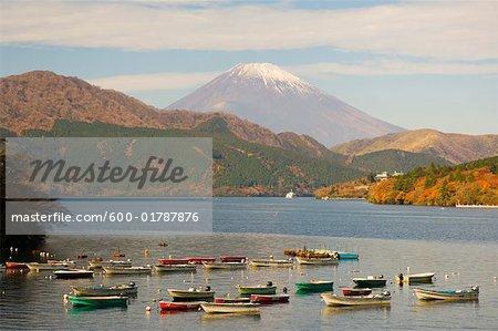 Lake Ashi and Mount Fuji, Honshu, Japan