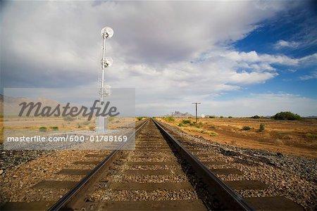 Train Tracks, near Casa Grande, Arizona, USA