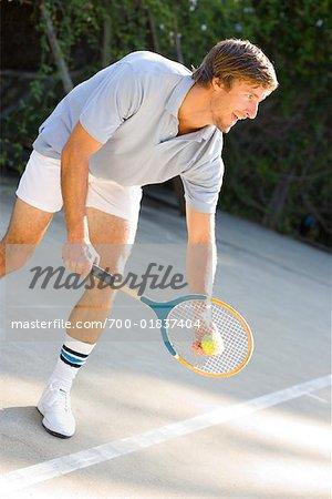 Man spielt Tennis