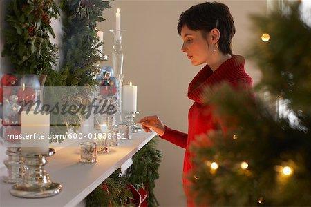 Bougies d'éclairage femme