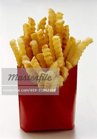 Jetons dans la boîte rouge fast food