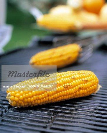 Épis de maïs sur le barbecue