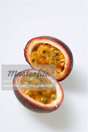 Passion fruit (Purple granadilla) halved