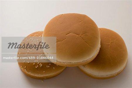 Hamburger Brötchen mit und ohne SESAM