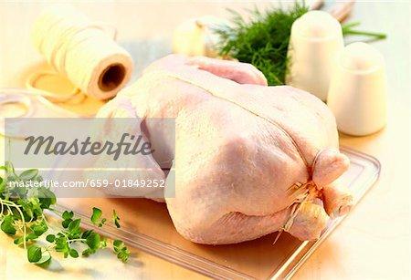 Poulet prêt à griller ou à rôtir