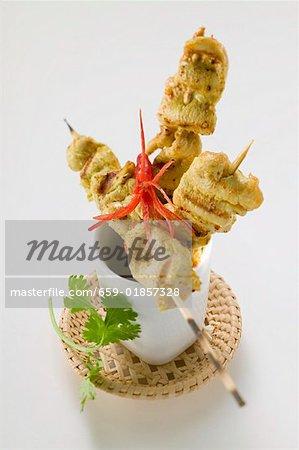 Würzige Satay mit Chili-Pfeffer (Indonesien)