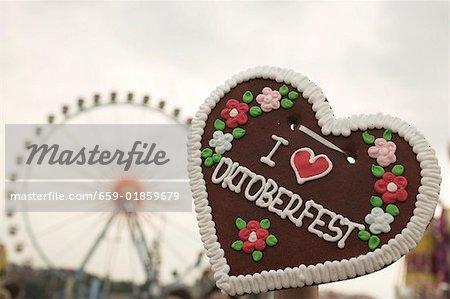 Lebkuchen heart at Oktoberfest