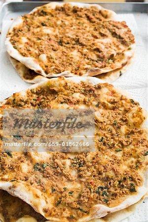 Pizza à la viande hachée (Turquie)