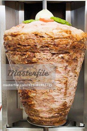 Döner kebab à broche