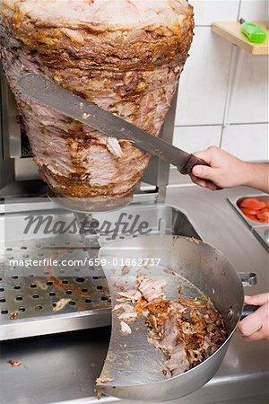 Pour trancher un döner kebab
