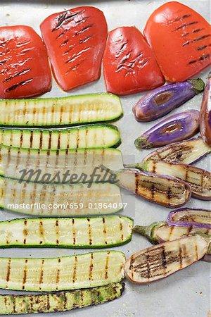 Une sélection de légumes grillés
