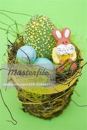 Bonbons de Pâques au nid de Pâques