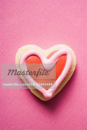 Biscuit glacé en forme de coeur