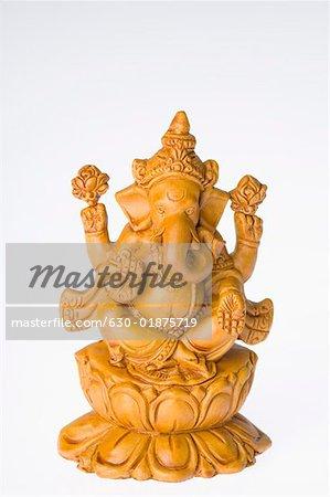 Gros plan d'une statue de Seigneur Ganesha