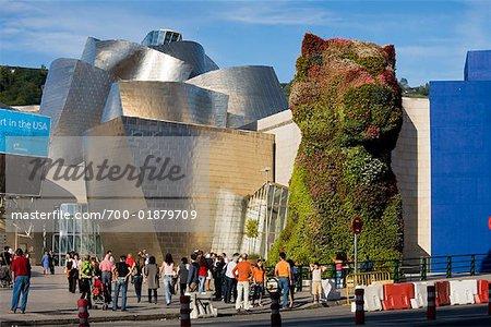 Welpen von Jeff Koons, Guggenheim Museum Bilbao, Bilbao, Baskenland, Spanien