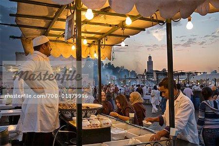 Food Stand, Jemaa El Fna, Medina of Marrakech, Morocco