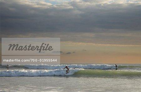 Surfers Surfing, Mal Pais, Puntarenas Province, Niocoya Peninsula. Costa Rica