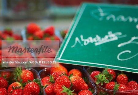 Erdbeeren am Markt
