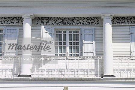 Reunion, facade of a traditional wooden house