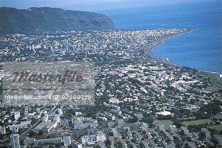 Reunion, Saint-Denis, aerial view