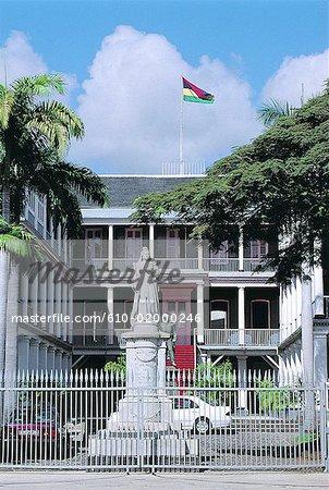 Mauritius, Port-Louis, city hall, queen Victoria statue