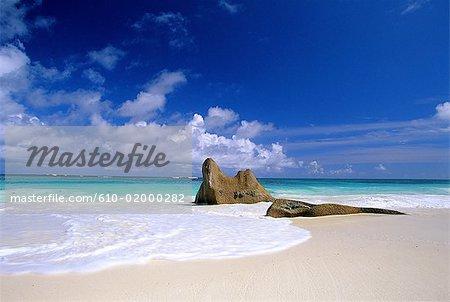 Seychelles, costal landscape