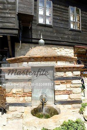 Bulgaria, Nesebar, fountain