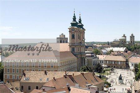 Eger, en Hongrie, de l'église « Minorita Templon »