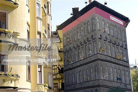 Peintures murales, Budapest, Hongrie