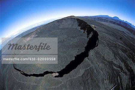 Réunion, volcan Piton de la Fournaise, cratère