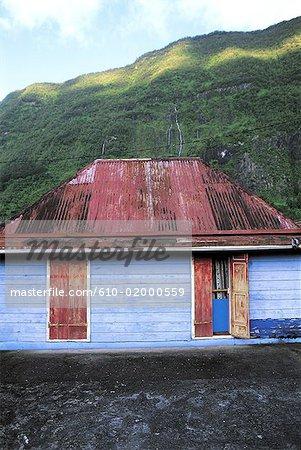 Reunion, Salazie cirque, colonial house