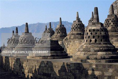Temple de Java, Borobudur, Indonésie