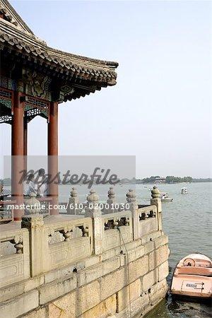 """China, Beijing, Summer Palace """"Yiheyuan"""", marble boat"""
