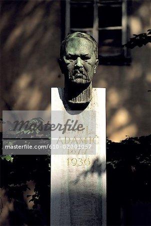 Slovenia, Lubiana, Emil Adamic composer statue