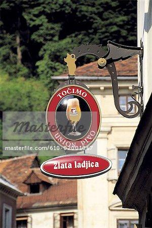 Slovenia, Lubiana, sign