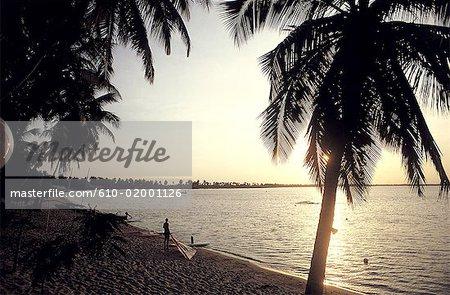 Coucher du soleil du lac Togo, Togo