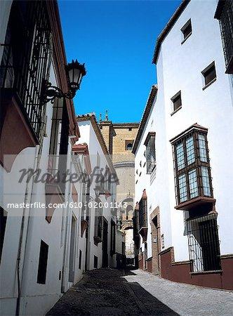 Espagne, Andalousie, village blanc, lane